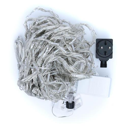 Luce natalizia tenda ICE 400 led bianco freddo ESTERNO 4
