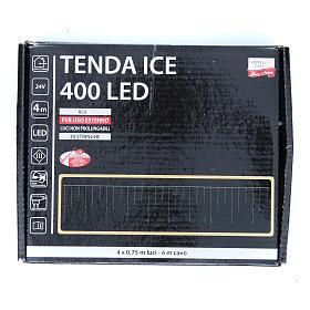 Luce natalizia tenda ICE 400 led blu ESTERNO s3