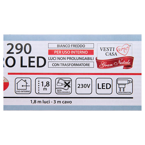Guirlande lumineuse branches 290 microleds blanc froid INTÉRIEUR 5
