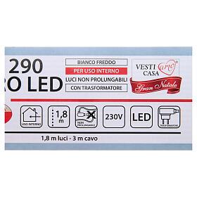 Luce di Natale rami 290 microled bianco freddo interno s5