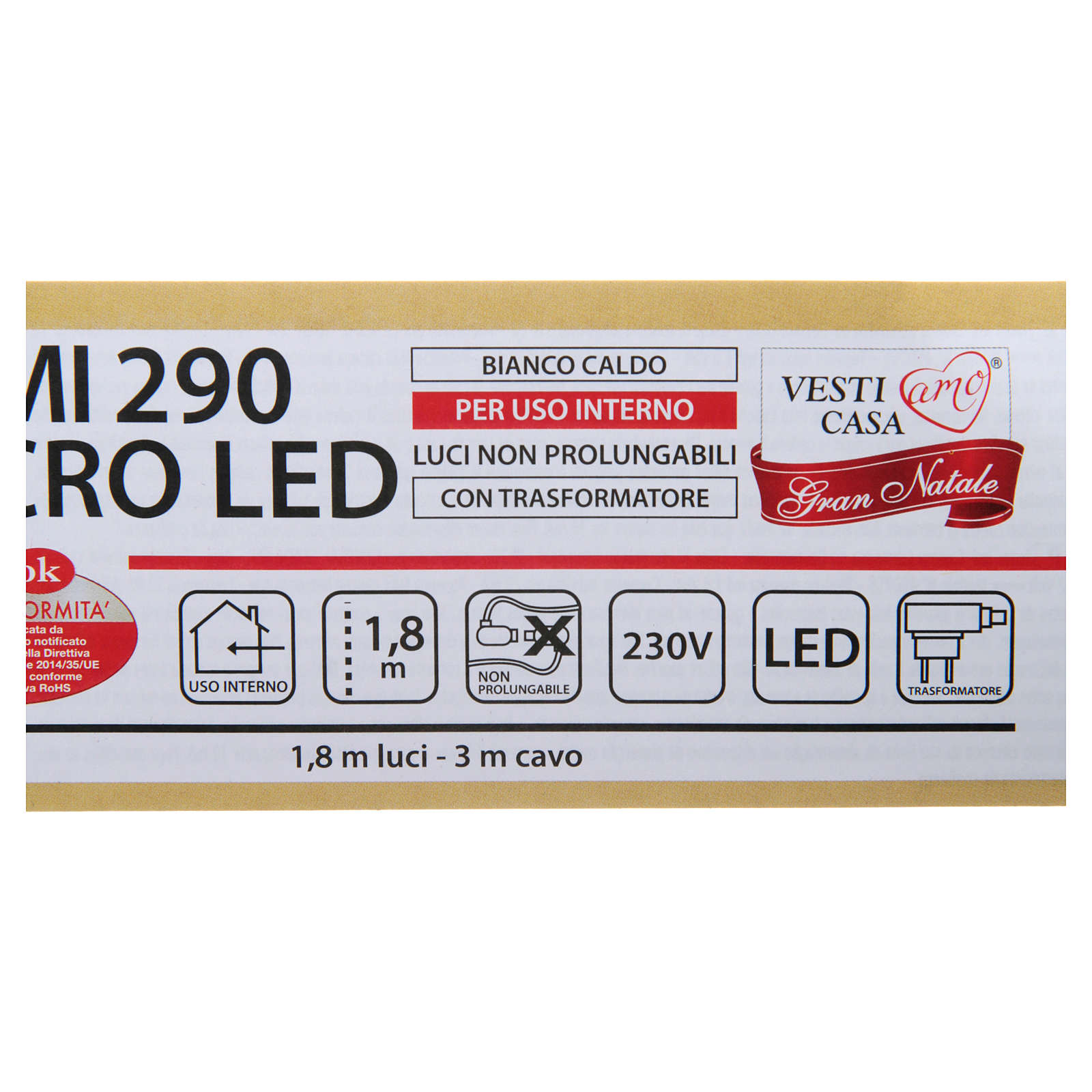 Guirlande lumineuse branches 290 microleds blanc chaud INTÉRIEUR 3