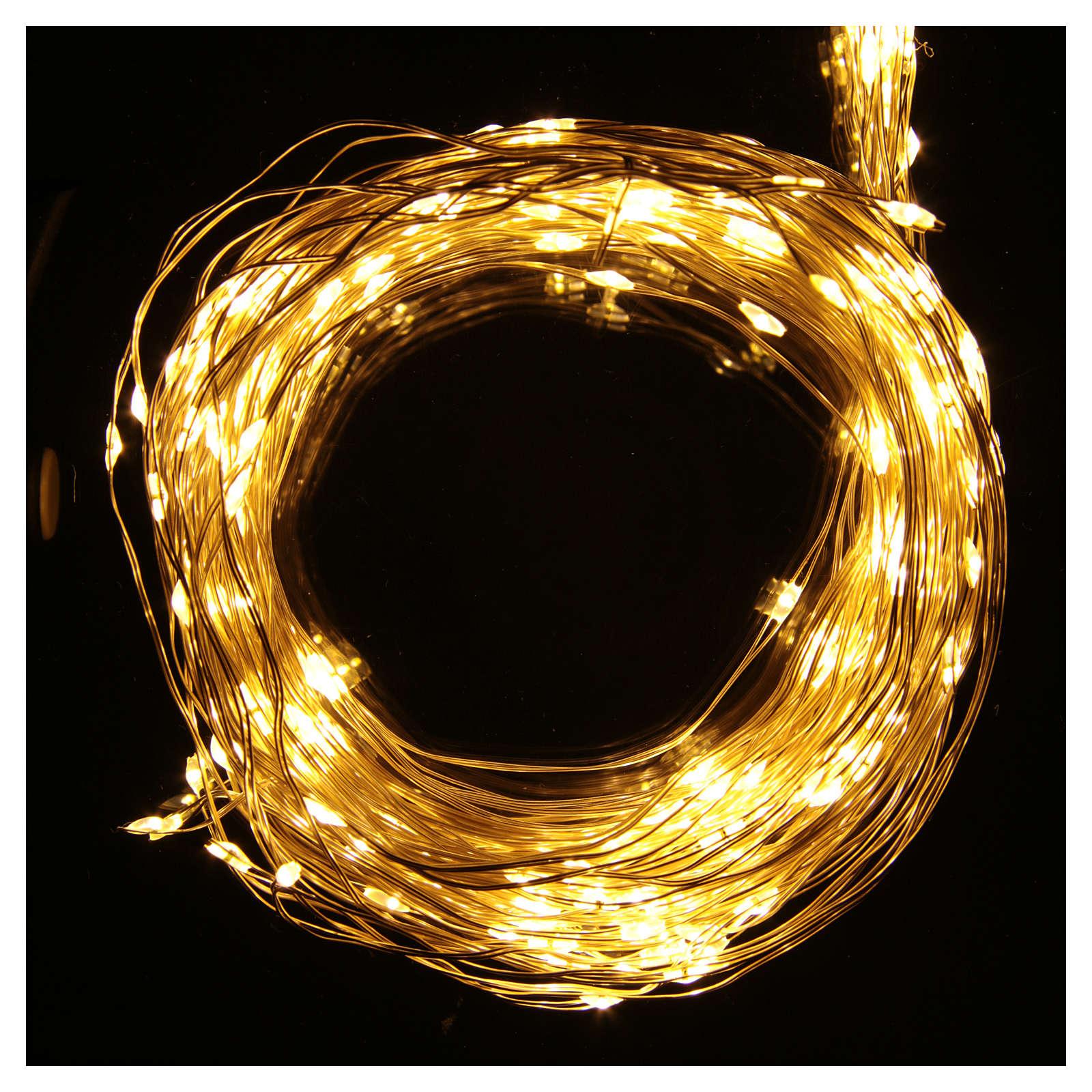 Luce di Natale rami 360 microled bianco caldo interno 3