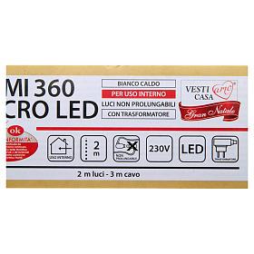 Luce di Natale rami 360 microled bianco caldo interno s5