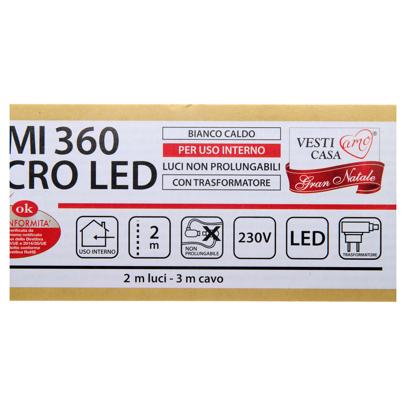 Christmas Lights: branches with 360 micro LED, warm white, indoor use 3