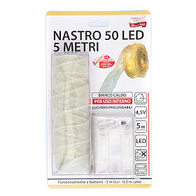 Luces Navideñas cinta 5 mt 50 luces led blanco-amarillo s6