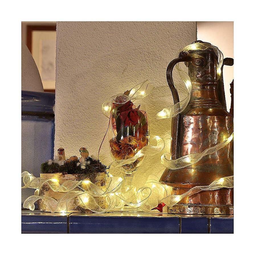 Luminaire Noël ruban 5 m avec 50 leds blanc chaud 3