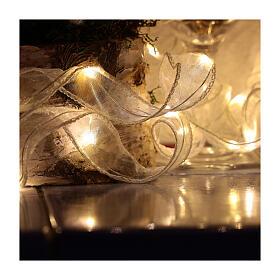 Luminaire Noël ruban 5 m avec 50 leds blanc chaud s2