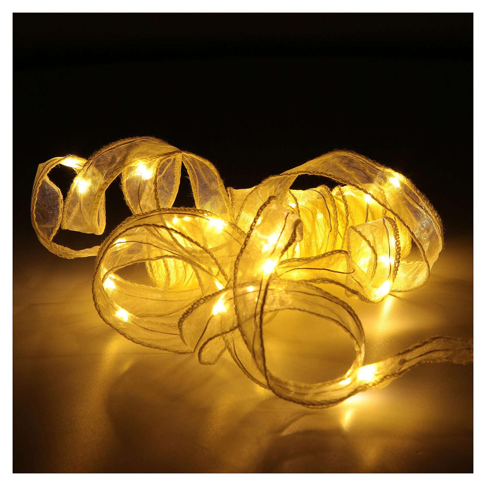 Luce Natalizia nastro 5 mt con 50 luci led bianco caldo 3