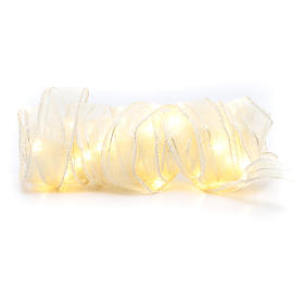 Luce Natalizia nastro 5 mt con 50 luci led bianco caldo s2