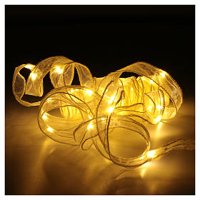 Luce Natalizia nastro 5 mt con 50 luci led bianco caldo s3