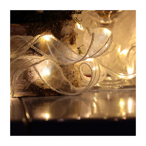 Luce Natalizia nastro 5 mt con 50 luci led bianco caldo 2
