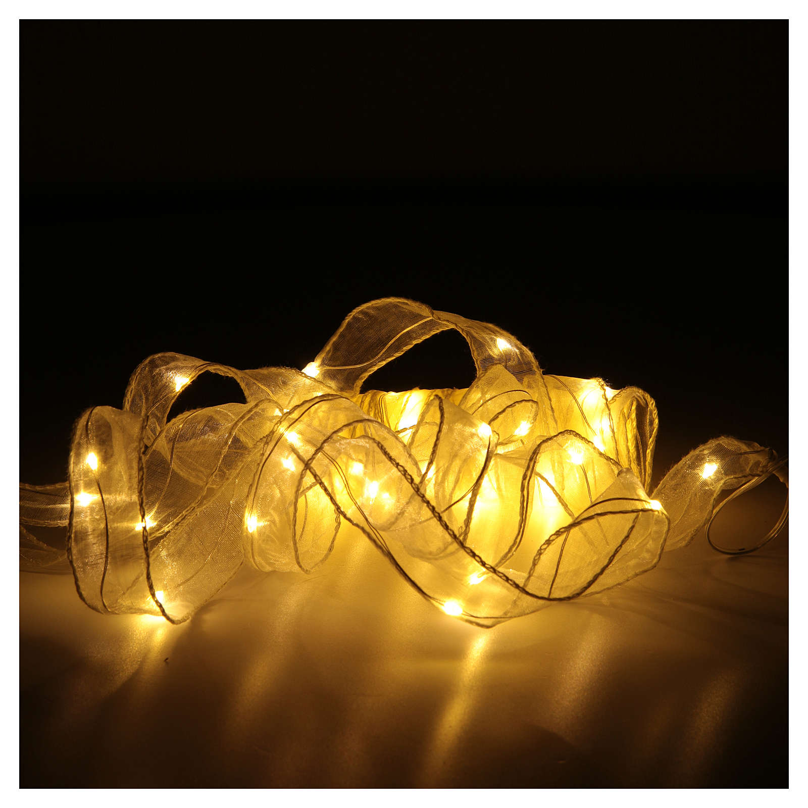 Luce Natalizia nastro 8 mt con 80 luci led bianco caldo 3