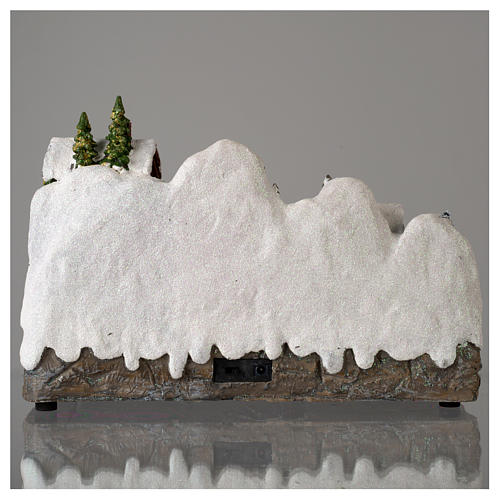 Christmas village with moving snowman  25x35x15 cm 5