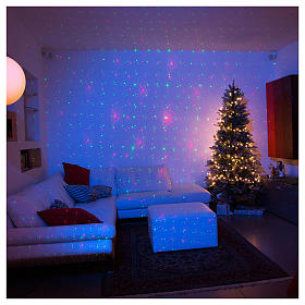 Christmas laser lights projectors: Christmas lights laser projector for interiors with Christmas decorations