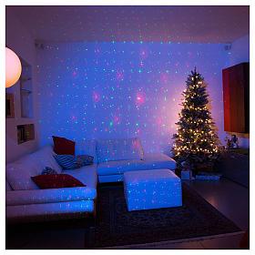 Projecteur laser Noël: Projecteur laser lumière Noël argent thème Noël pour intérieur