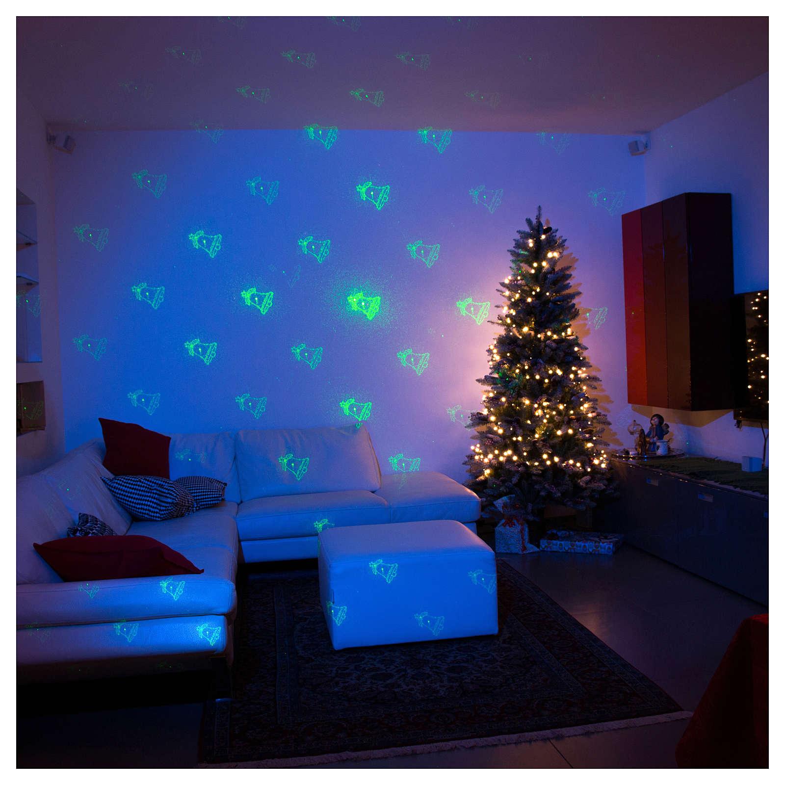 Proiettore tema natalizio verde e rosso con telecomando 3
