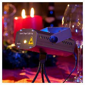 Proiettore tema natalizio verde e rosso con telecomando s2