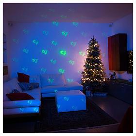 Proiettore tema natalizio verde e rosso con telecomando s3