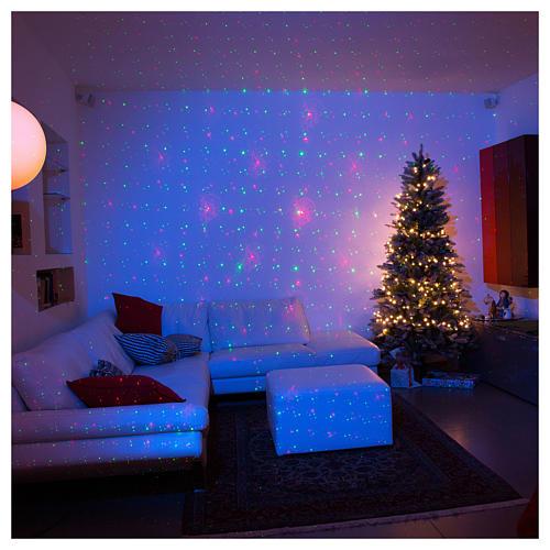 Proiettore tema natalizio verde e rosso con telecomando 1