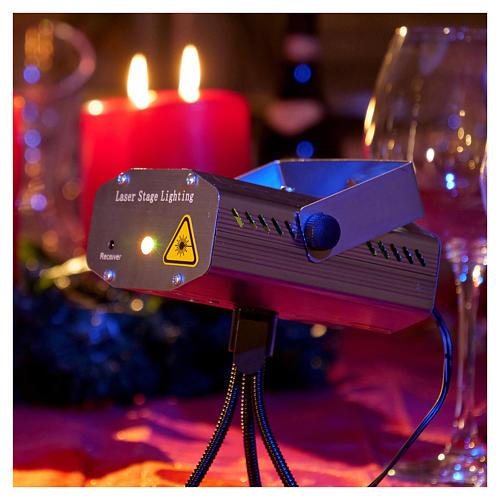Proiettore tema natalizio verde e rosso con telecomando 2