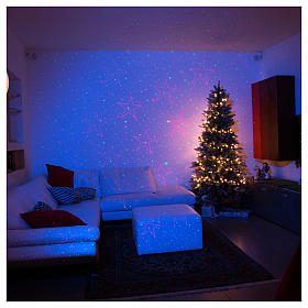 Christmas laser lights projectors: Christmas lights laser projector for interiors silver with heart decorations