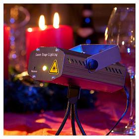 Projecteur laser pour intérieur points en mouvement coeurs vert rouge s2