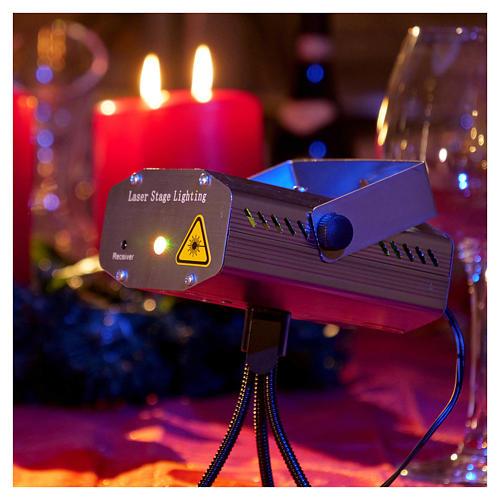 Projecteur laser pour intérieur points en mouvement coeurs vert rouge 2