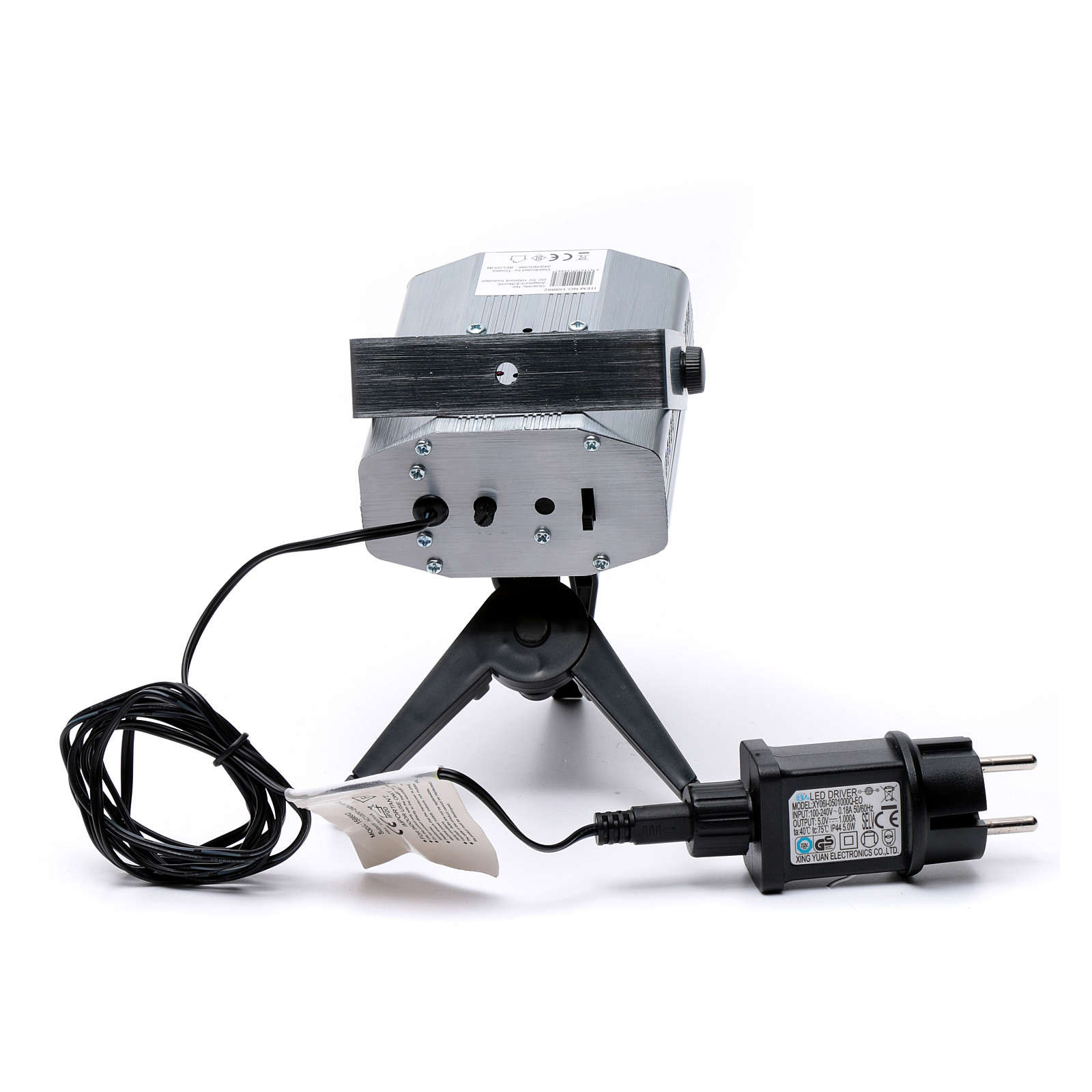 Proiettore laser per interni punti in movimento cuori verde rosso 3