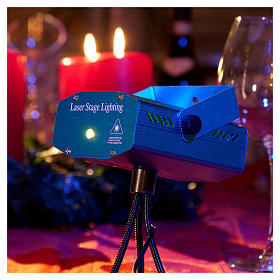 Christmas lights laser projector for interiors blue with heart decorations s2