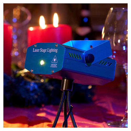 Christmas lights laser projector for interiors blue with heart decorations 2