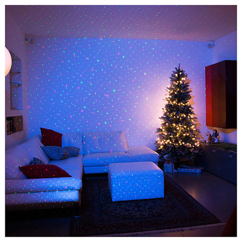 Christmas lights laser projector for interiors blue with heart decorations 3