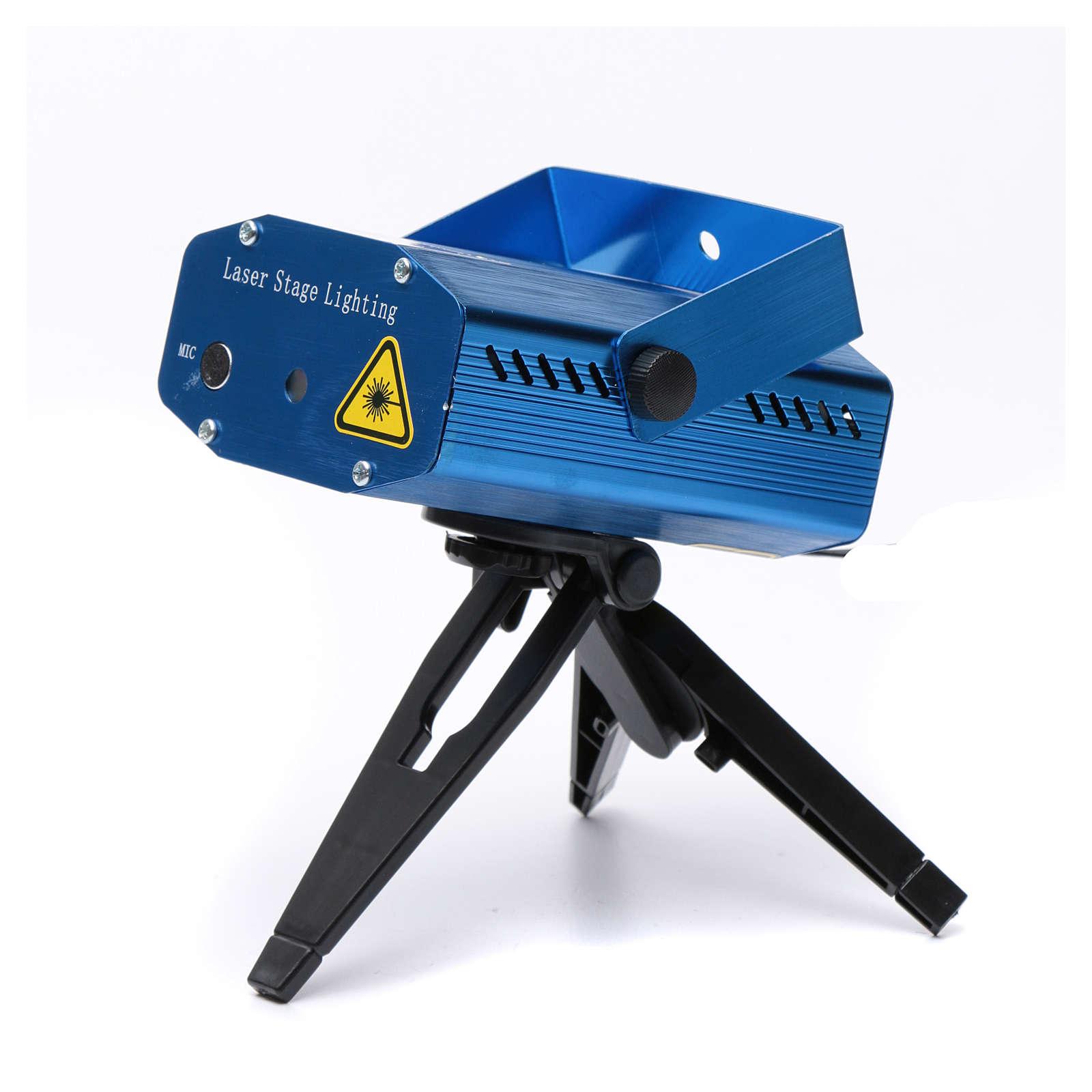 Proiettore laser blu tema cuori e stelle rosso verde 3