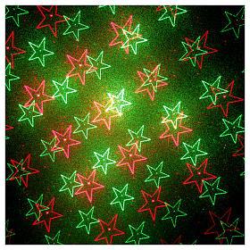 Proiettore laser blu tema cuori e stelle rosso verde s4