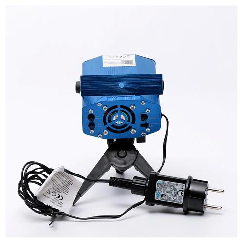 Proiettore laser blu tema cuori e stelle rosso verde 6