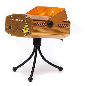 Projektor laserowy do wnętrz złoty motyw serc i gwiazd czerwony zielony z funkcją Music s4