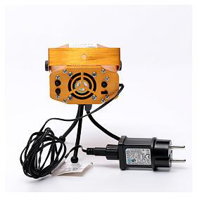 Projektor laserowy do wnętrz złoty motyw serc i gwiazd czerwony zielony z funkcją Music s5