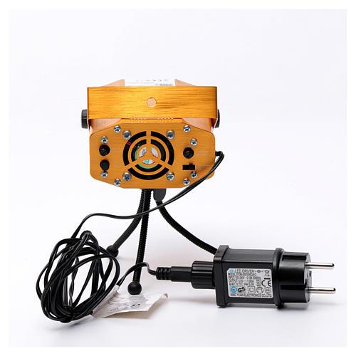 Projektor laserowy do wnętrz złoty motyw serc i gwiazd czerwony zielony z funkcją Music 5