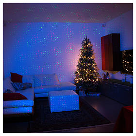 Christmas laser lights projector gold decorated with hearts for interiors s1