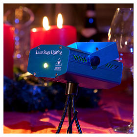 Christmas laser lights projector blue with Christmas decorations for interiors s2