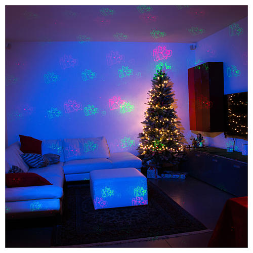Christmas laser lights projector blue with Christmas decorations for interiors 4