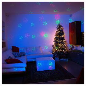Projecteur laser thème Noël pour intérieur points vert rouge s1