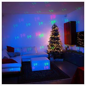 Projecteur laser thème Noël pour intérieur points vert rouge s3