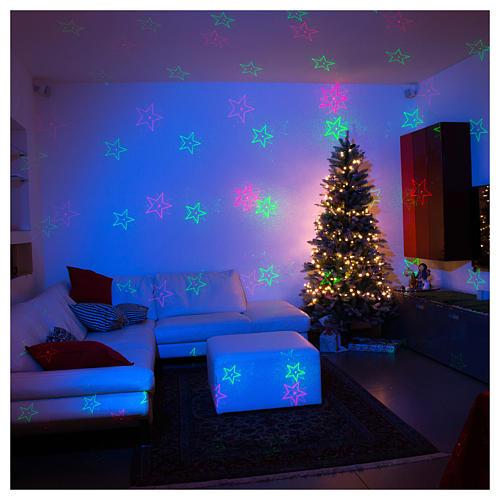 Projektor laserowy efekty świąteczne zielone czerwone do wnętrz 1
