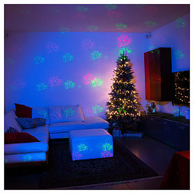 Christmas laser lights projector blue with Christmas decorations for interiors s4