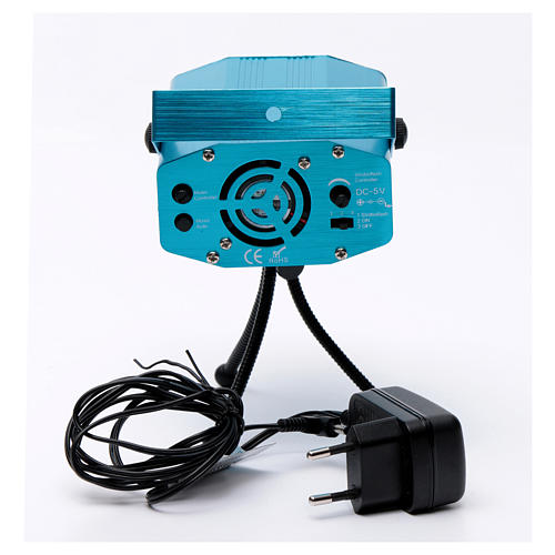 Christmas laser lights projector blue with Christmas decorations for interiors 6