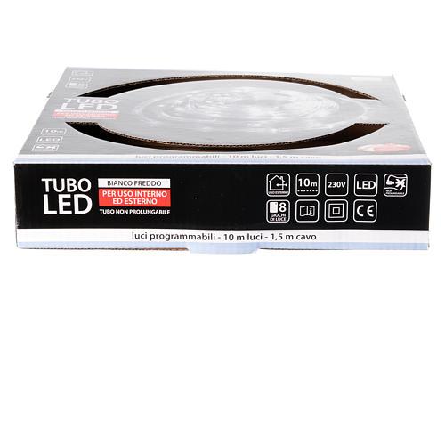 Luce natalizia tubo led 10 mt ghiaccio programmabile esterno 4
