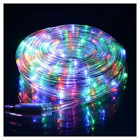 Luce natalizia tubo led 10 mt programmabile multicolor esterno s2
