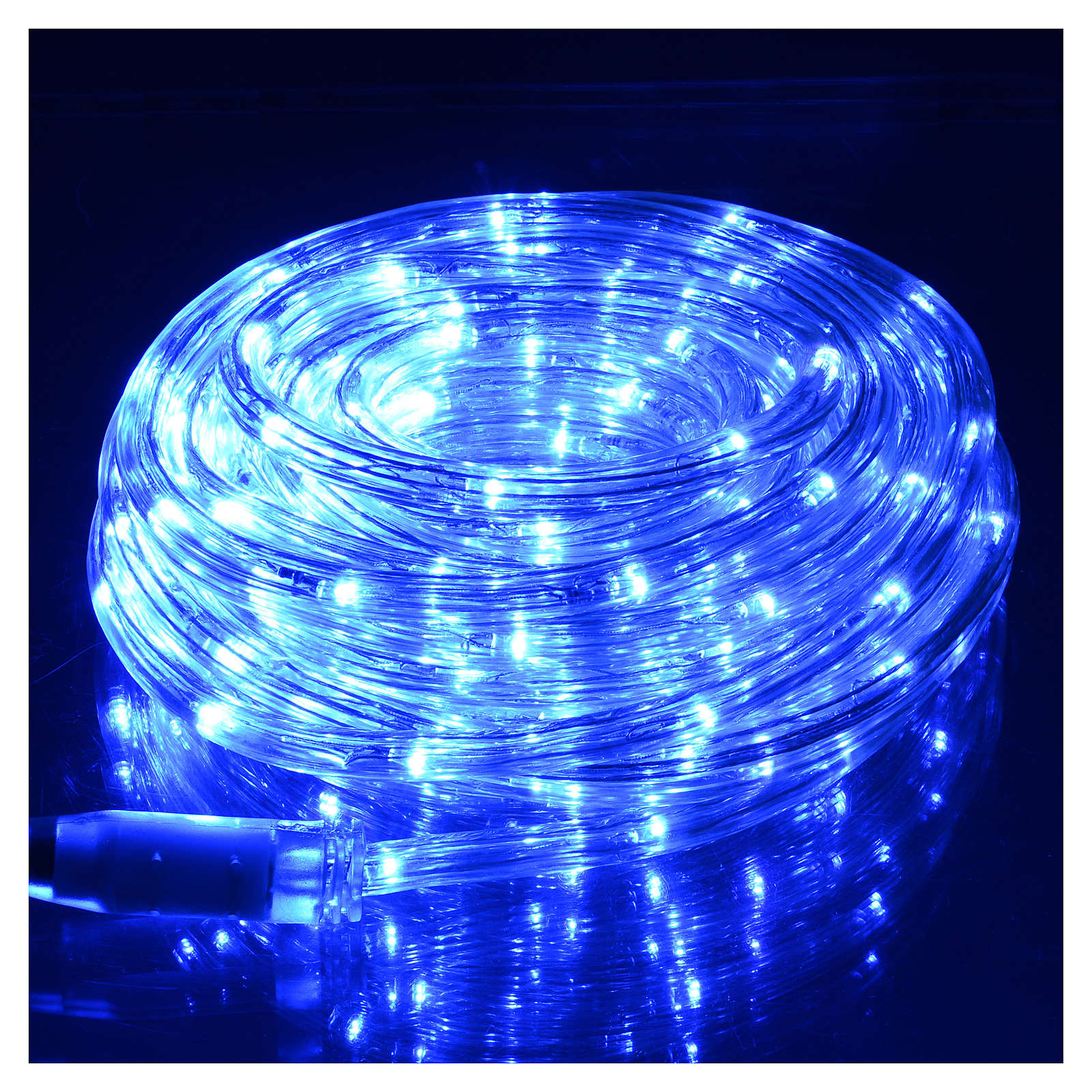 Luce natalizia tubo led blu 10 mt programmabile esterno 3
