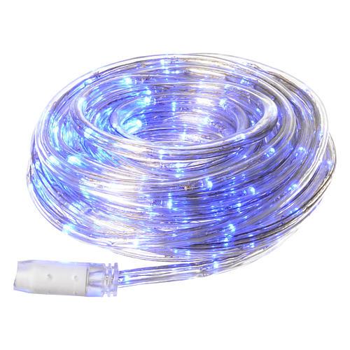 Luce natalizia tubo led blu 10 mt programmabile esterno 1