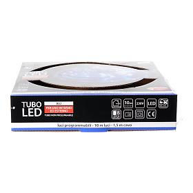 Christmas led tube light blue 10 mt for external use programmable s4